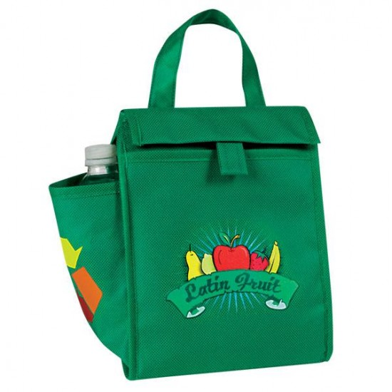 Custom Logo eGREEN Lunch Bag w/Bottle Pocket