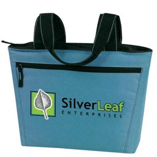 Custom Logo 2-Tone 12 Pack Cooler Tote Bag