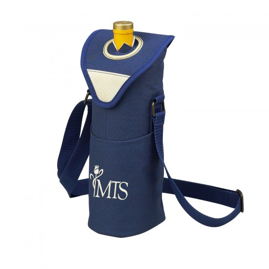 Custom Logo Aegean Single Wine Bottle Tote Bag