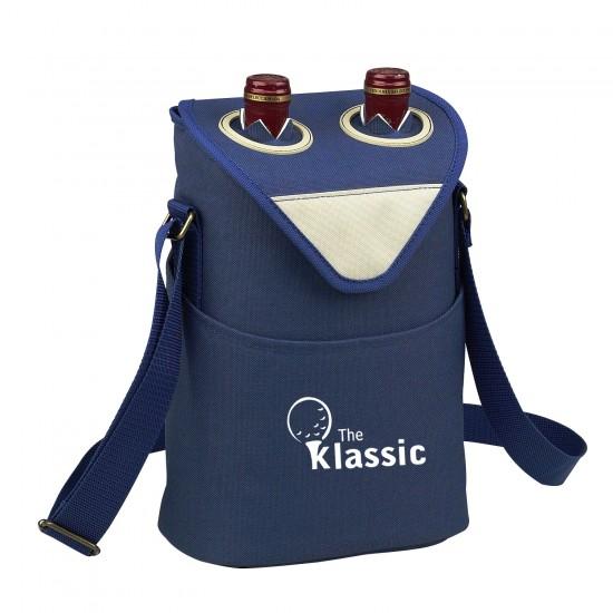 Custom Logo Aegean Two Bottle Wine Tote Bag
