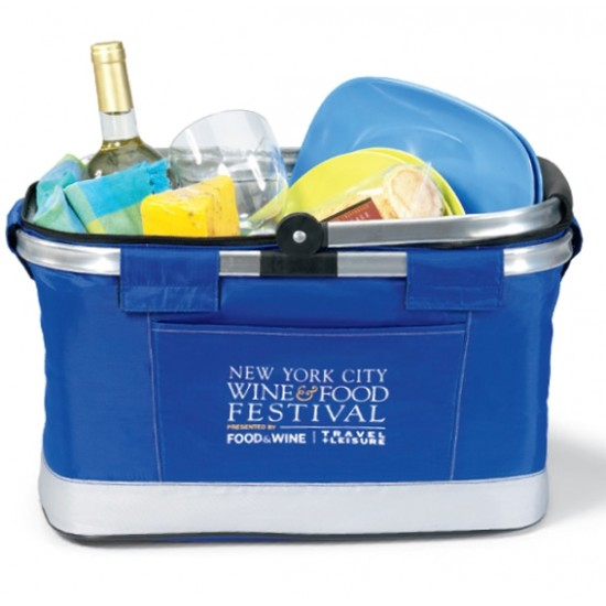 Custom Logo All Purpose Basket Cooler-Blue