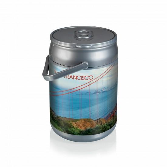 Custom Logo  Can Cooler w/ Handle and Custom Designs, Beverage Can Replica
